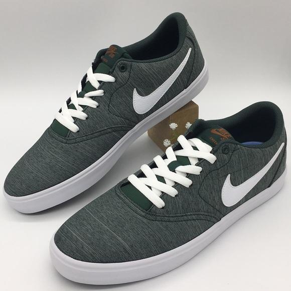 Nike Shoes Nike Sb Check Solar Cnvs Prm Moonlight Greenwhite Poshmark